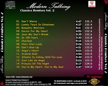 YS Bootlegs - YS318A MODERN TALKING - Classics Remixes Vol