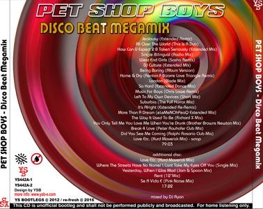 YS Bootlegs - YS442A PET SHOP BOYS - Disco Beat Megamix (2CD)